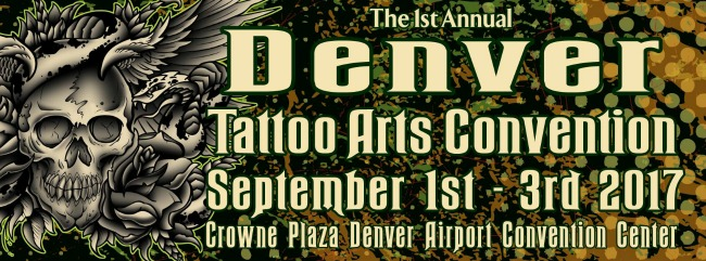 I'll be doing the 1st annual Denver Tattoo Convention September 1st-3rd