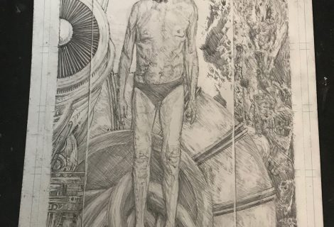 Almost done penciling this redo of the third illustration for my book
