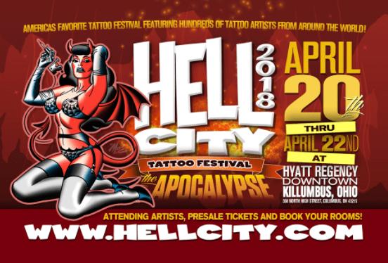 I'l be doing the Hell City, Killumbus, Ohio Tattoo Convention
