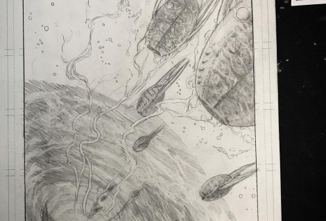 Finished penciling the 4th illustration