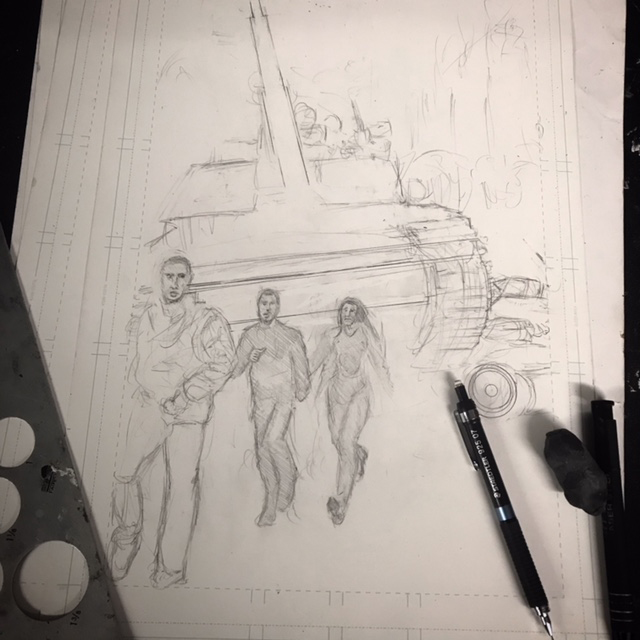 Started the 5th Illustration for my new book The End Of The World