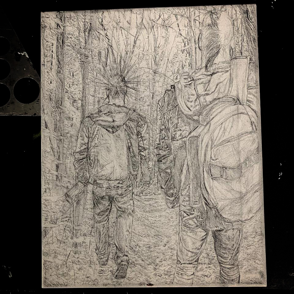 Finished the underdrawing